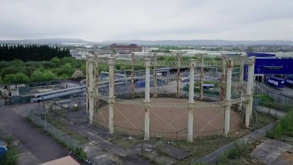 Grangetown gasworks site photo